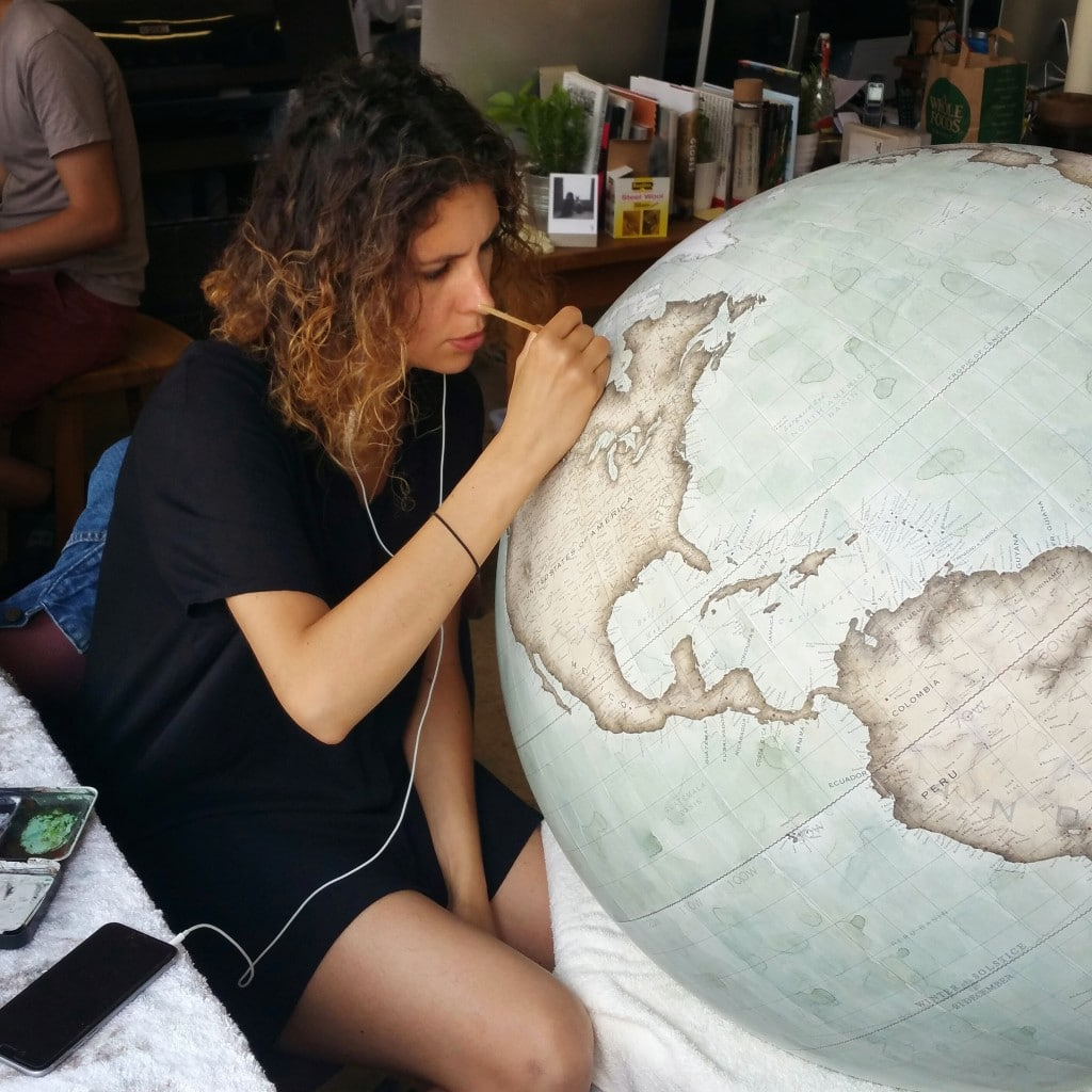 Painting_Mint_Green_80cm_Galileo_Isis_Bellerby_Globemakers_PhotoCred_Jade_Fenster
