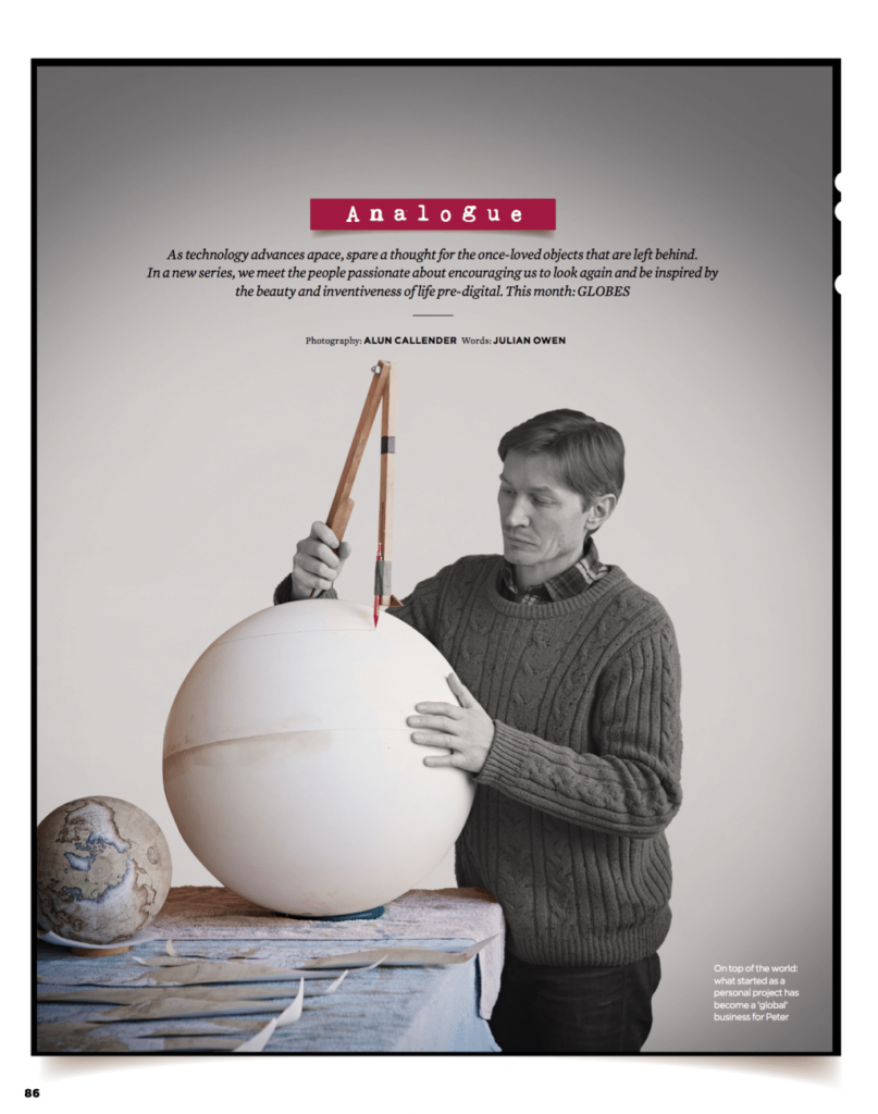 Simple Things Magazine August 2018 Analogue - Globes 1