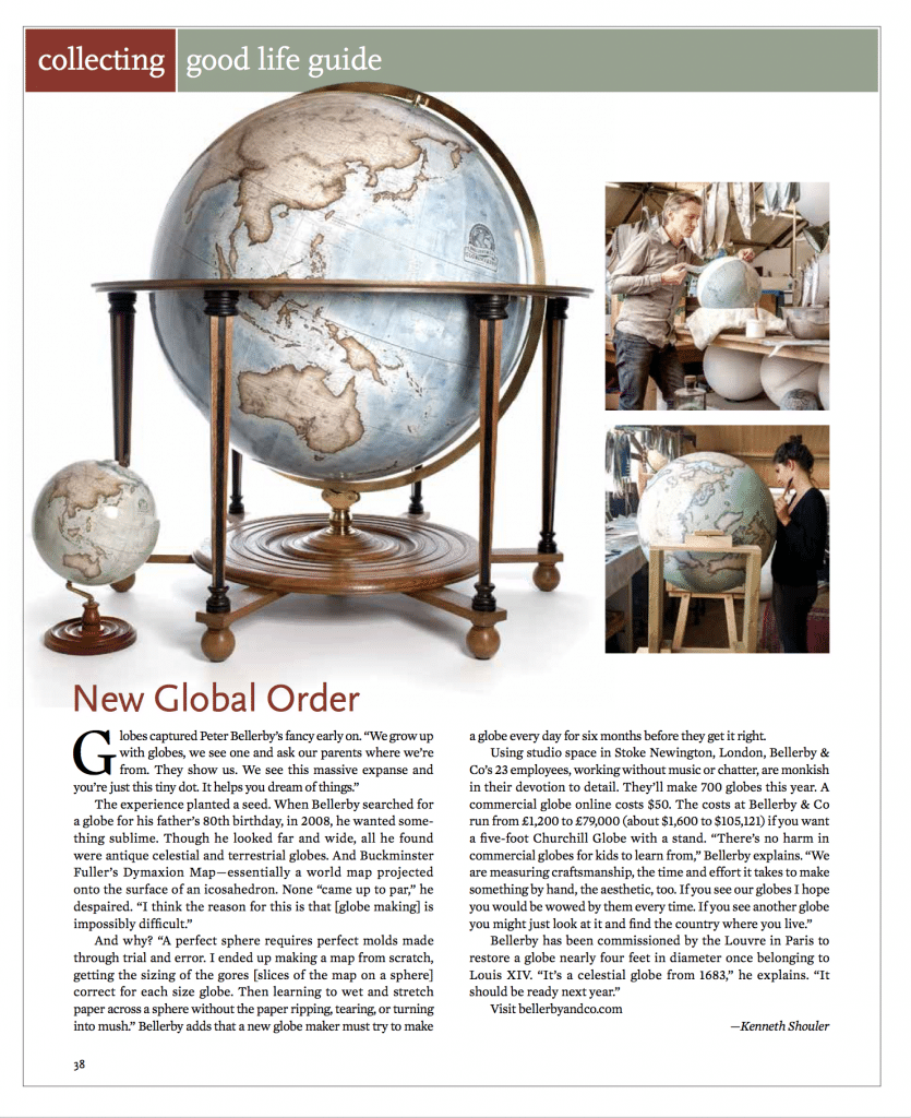 Cigar Aficionado Magazine March April 2019 Bellerby Globemakers