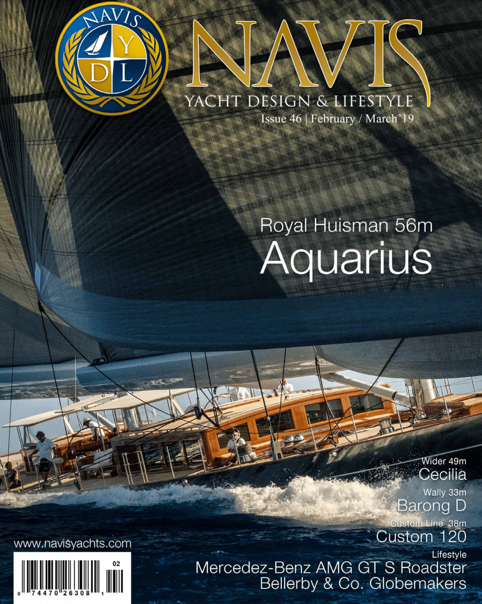 NAVIS Luxury Yacht Magazine March April 2019 Cover