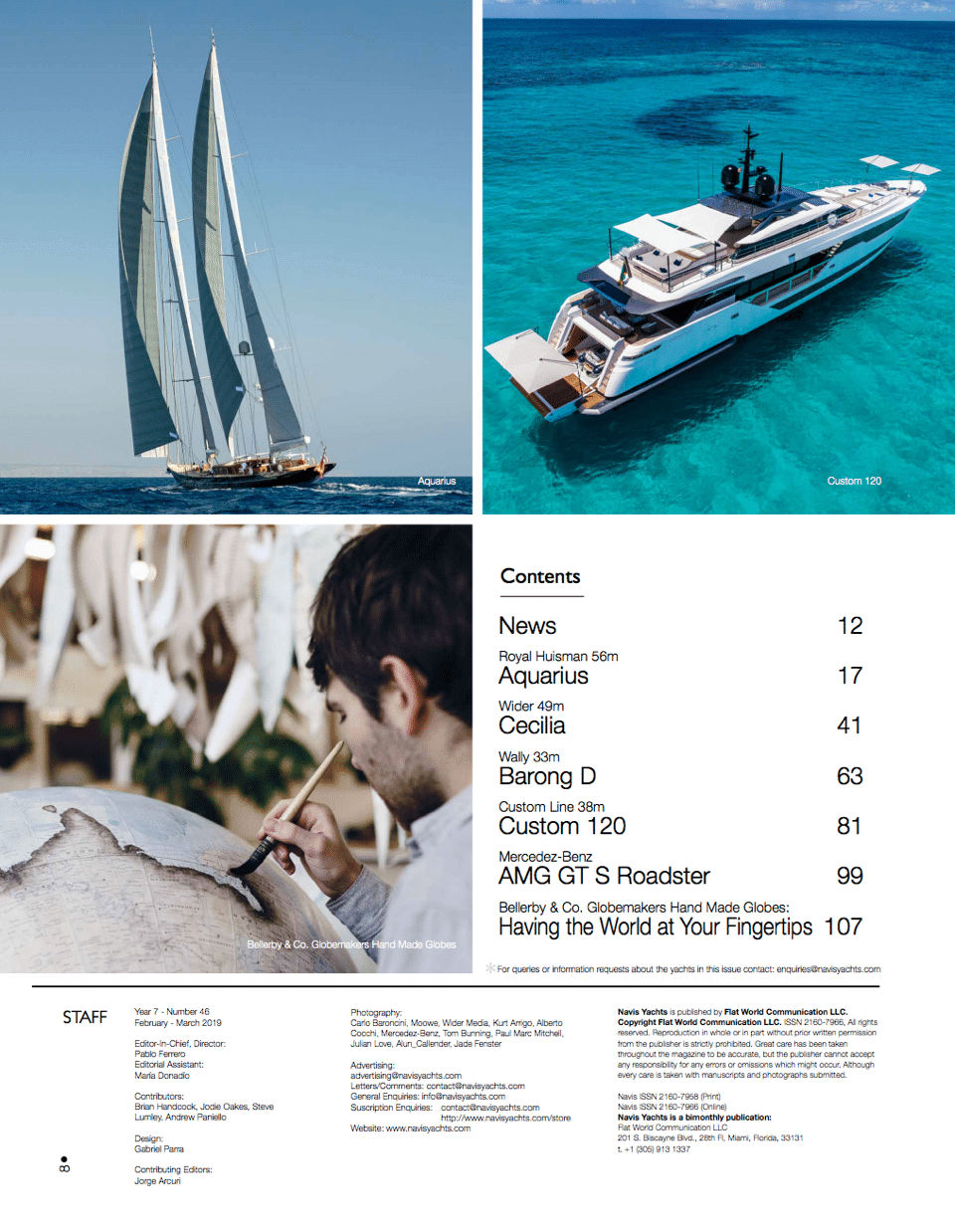 NAVIS Luxury Yacht Magazine March April 2019 Intro